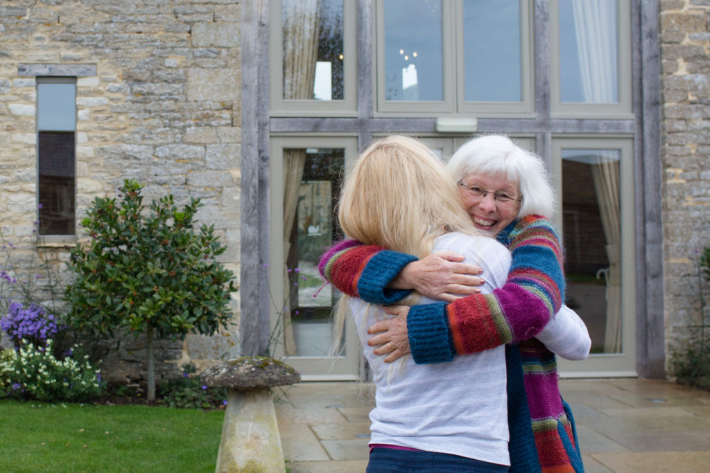 Caswell House, Oxfordshire, Bride Hugging