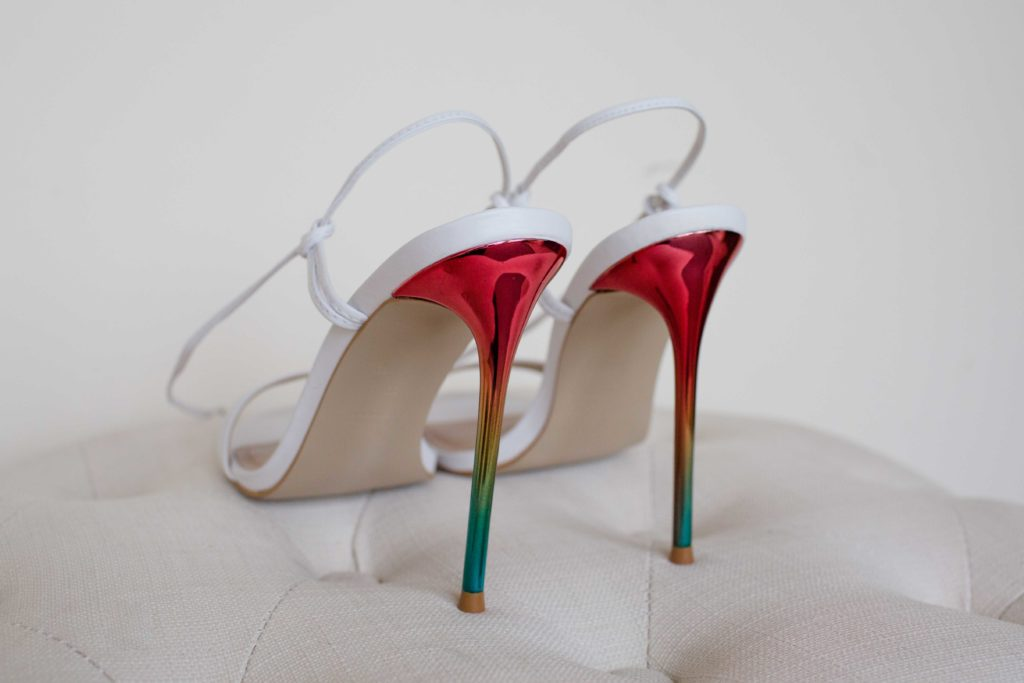 Caswell House, Oxfordshire, Bride Shoes Rainbow Heels