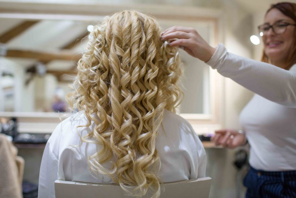 Caswell House, Oxfordshire, Bride Hair