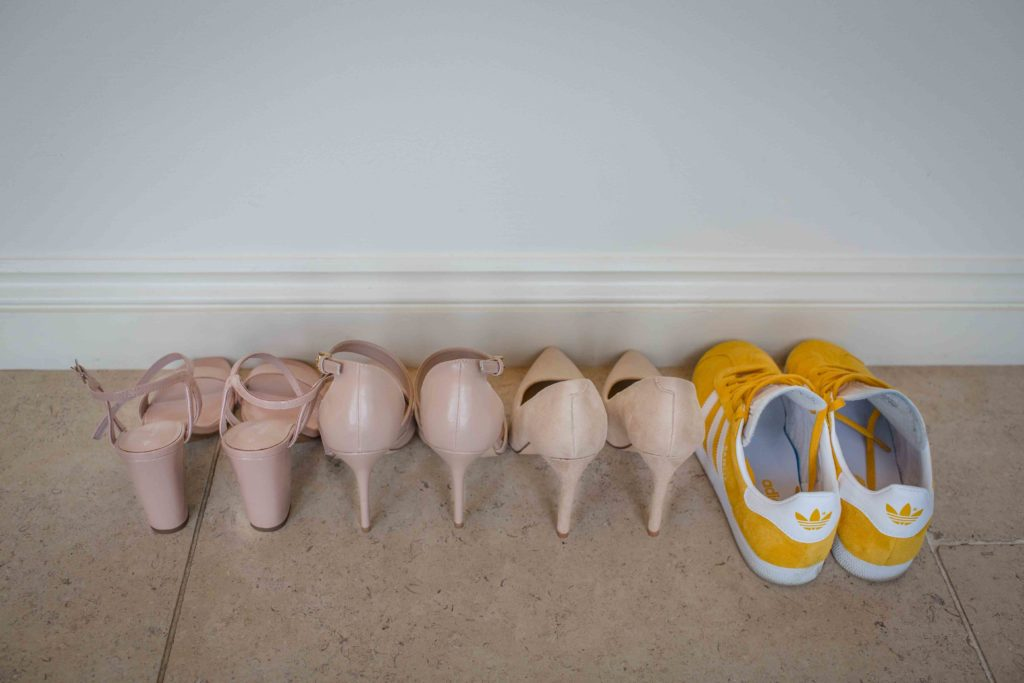 Caswell House, Oxfordshire, Bride 4 Pair Shoes