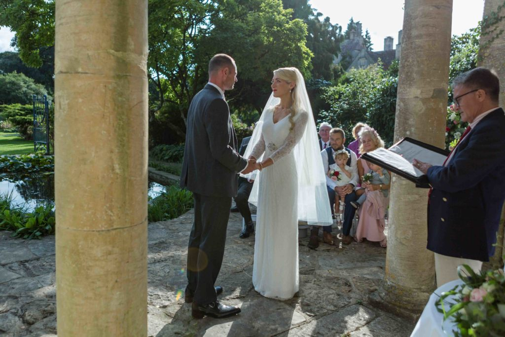 Barnsley House Wedding Bride Groom Ceremony