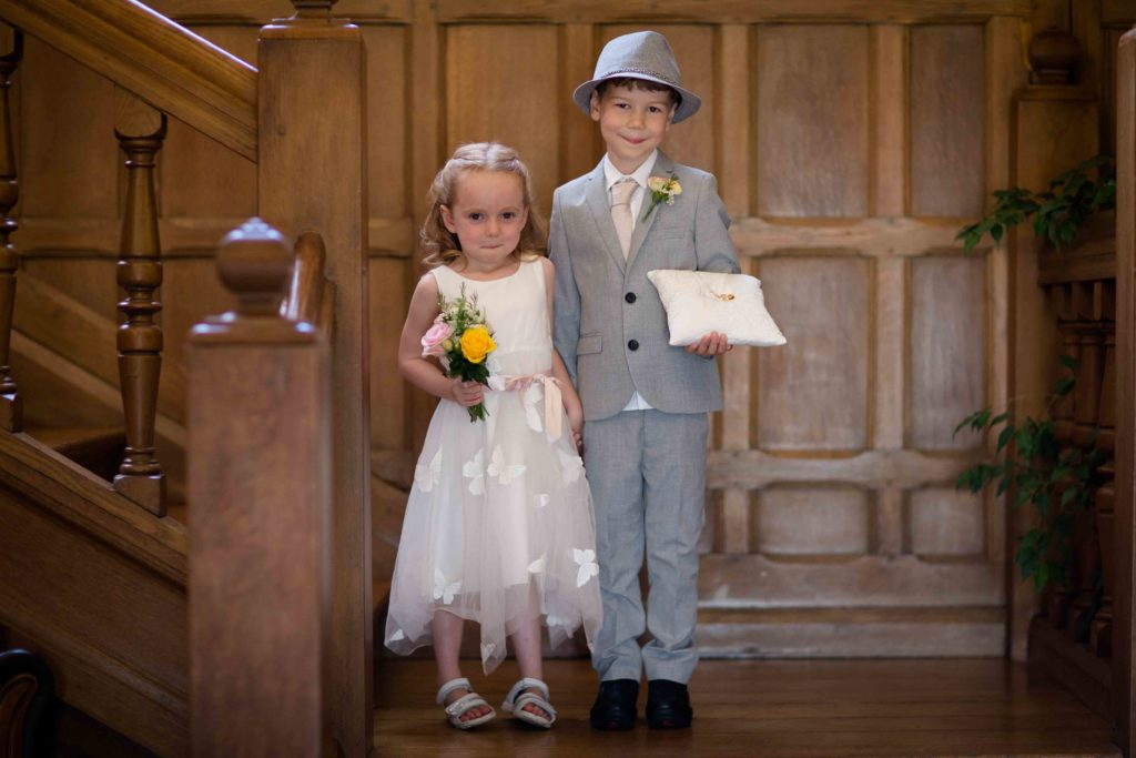 Stanton House Hotel, Swindon, Young Bridesmaid Pageboy holding Rings