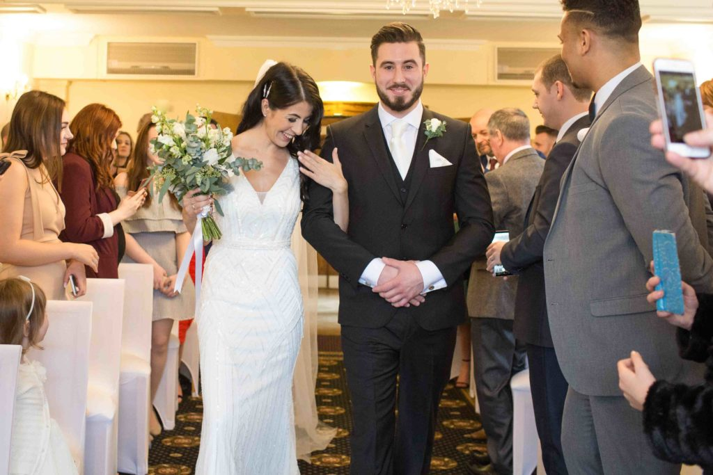 Stanton House Hotel, Swindon, Ceremony Bride Brother Walking Down Aisle