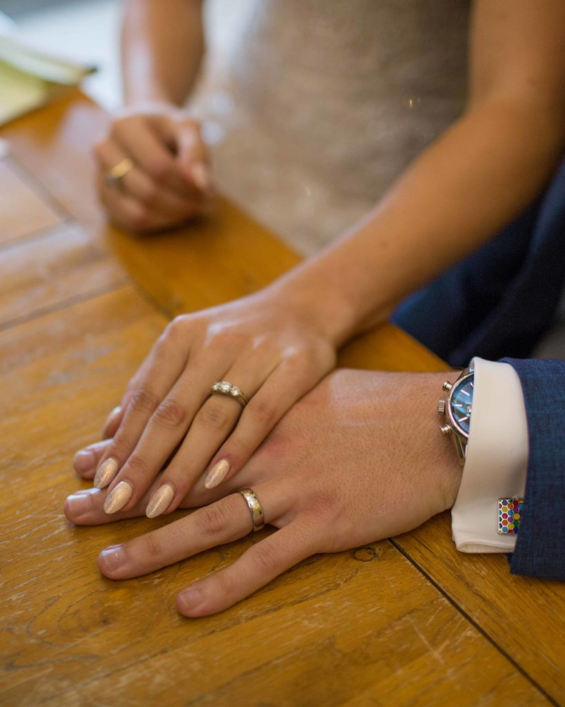 Caswell House, Oxfordshire, Bride Groom Ceremony Rings