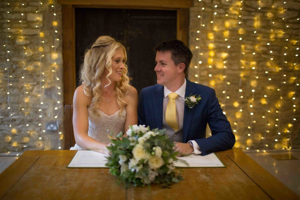 Caswell House, Oxfordshire, Bride Groom Ceremony Signing Register