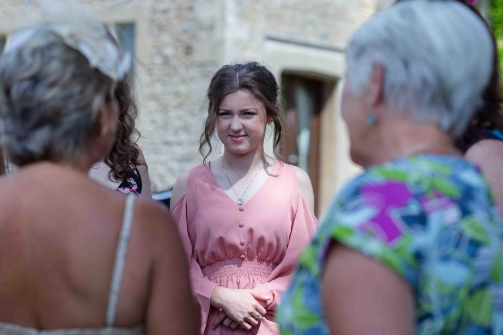 Stanton House Hotel, Swindon, Summer Wedding, Young Female Guest Pick Dress