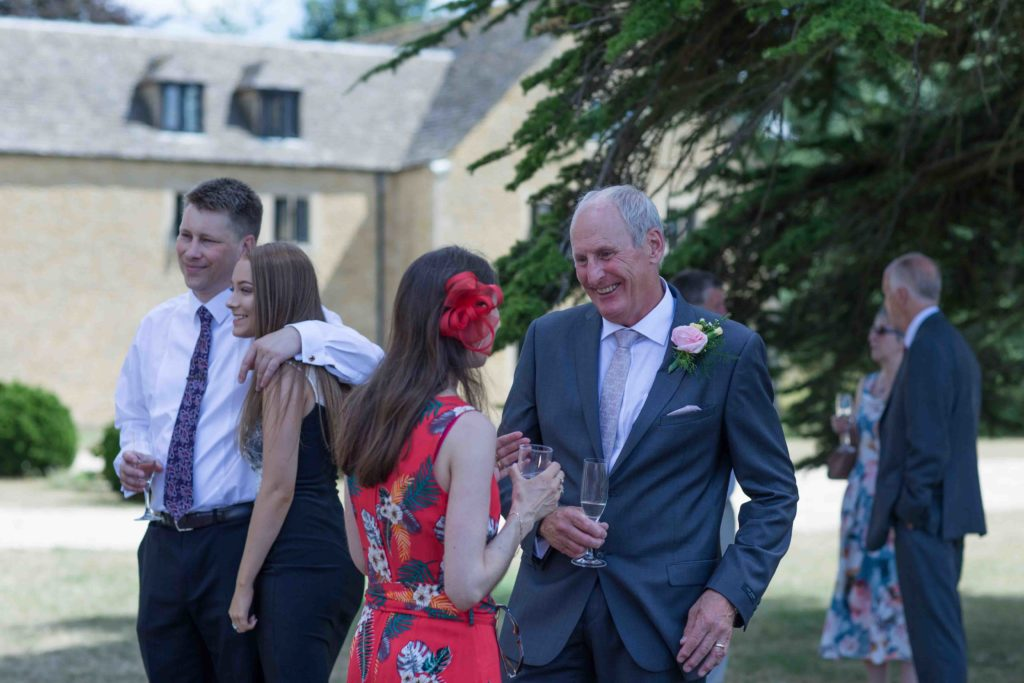 Stanton House Hotel, Swindon, Summer Wedding, Groom Guests Chatting Laughing
