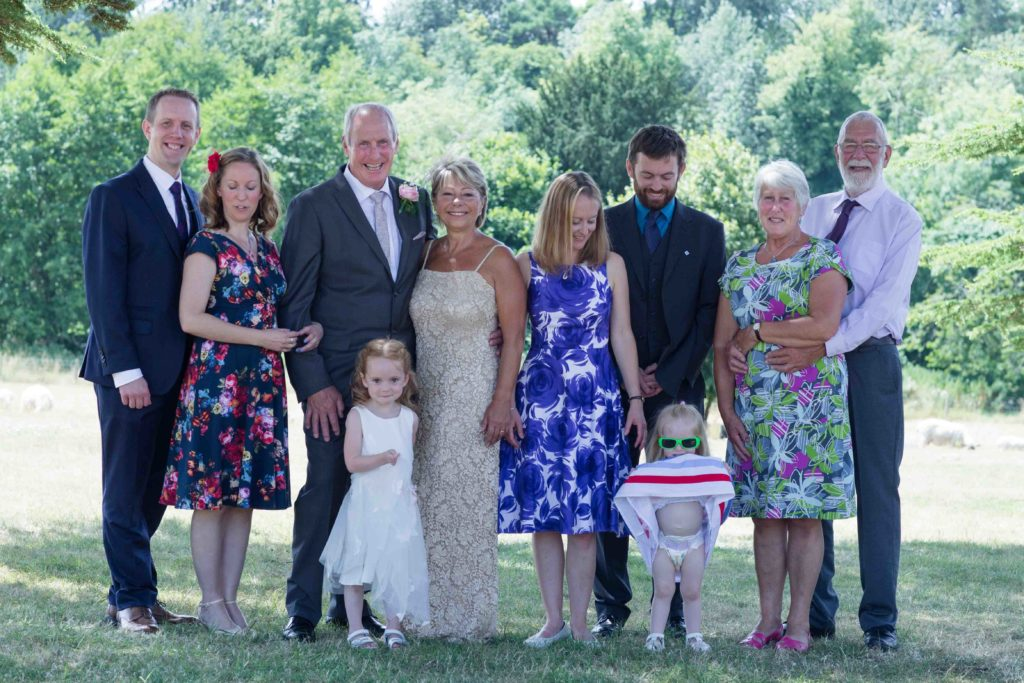 Stanton House Hotel, Swindon, Summer Wedding, Bride Groom Close Family Friends in Grounds