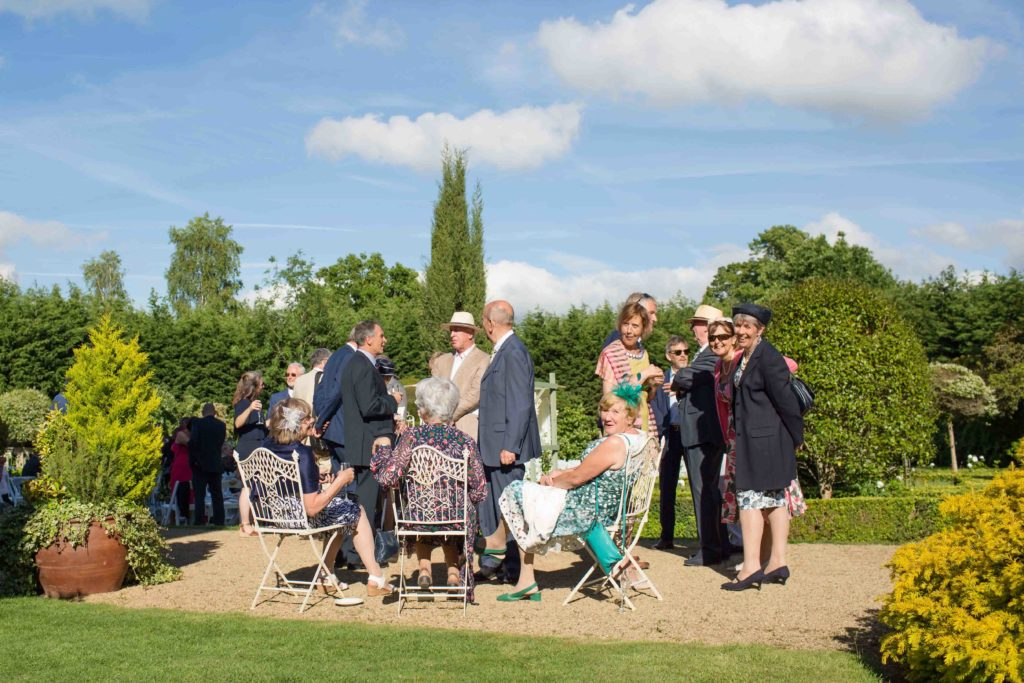 Manor by the Lake, Cheltenham, Wedding, Grounds Guests Sitting Standing