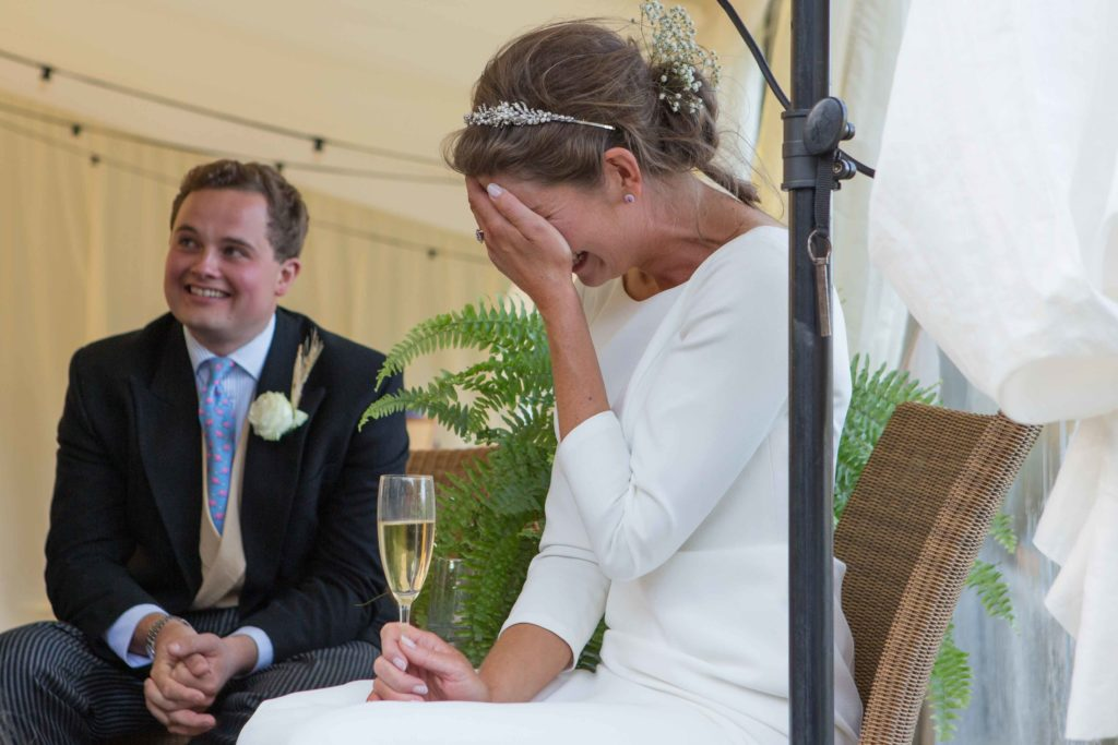 Brimpsfield Park, Wedding, Bride Emotional