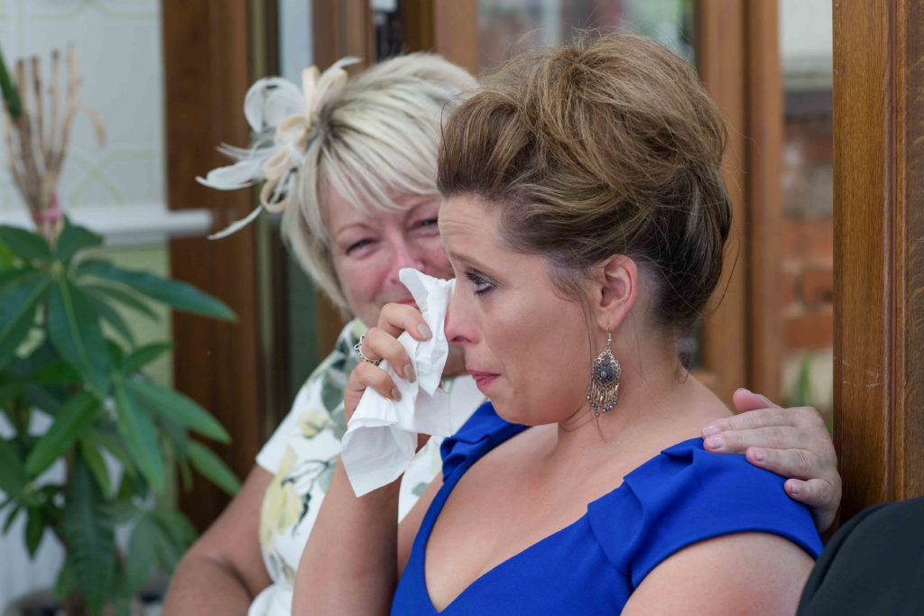 Highworth Hotel, Swindon, Wedding Guests Happy Tears
