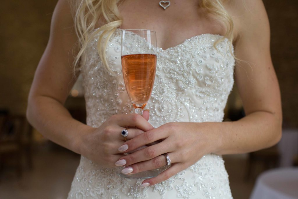 Caswell House, Oxfordshire, Bride Glass Champagne