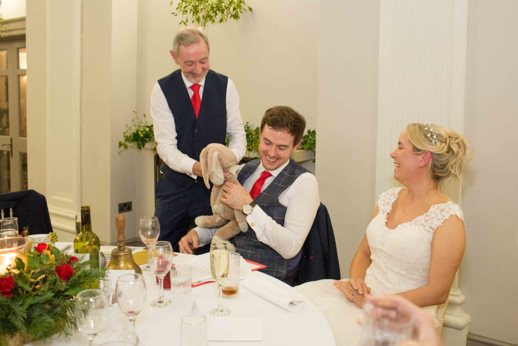Kings Head Hotel Cirencester Bride Groom Evening Cuddly Toy