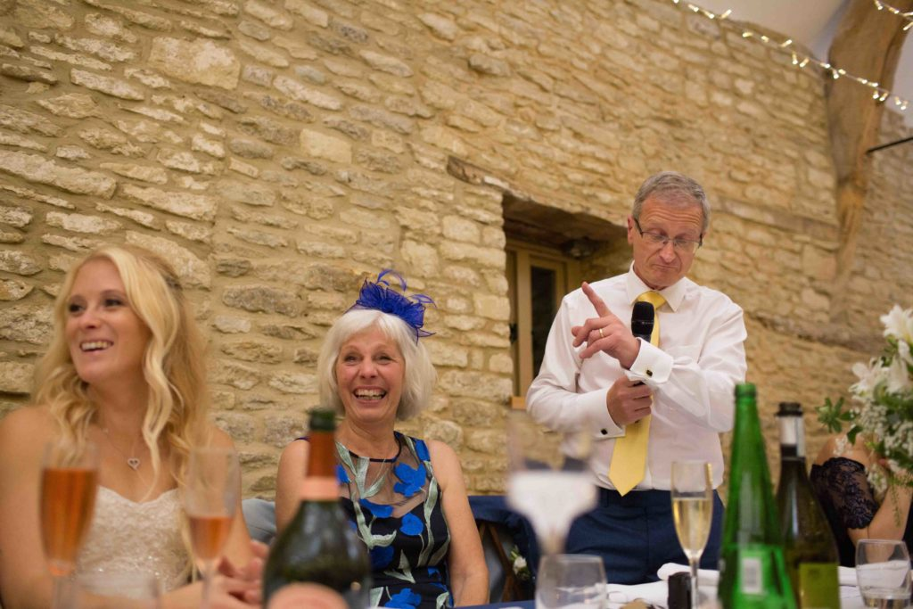 Caswell House, Oxfordshire, Speeches Father Bride