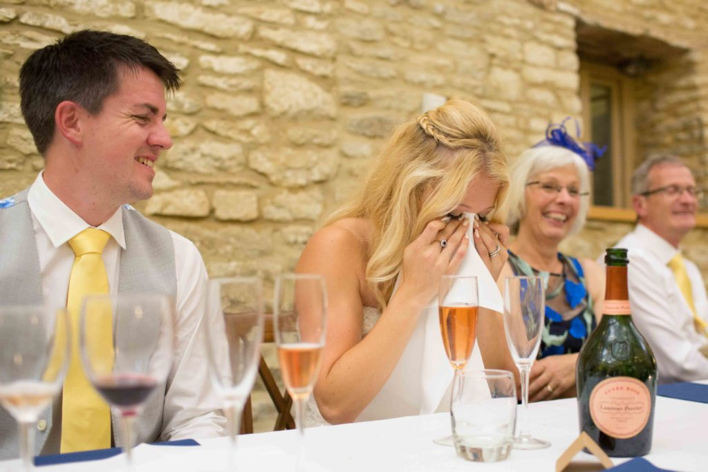Caswell House, Oxfordshire, Speeches Bride Crying
