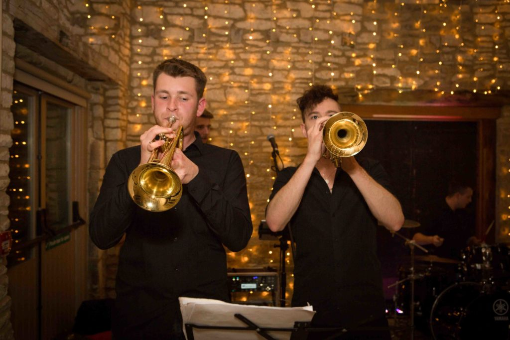 Caswell House, Oxfordshire, Two Chaps playing Trumpets